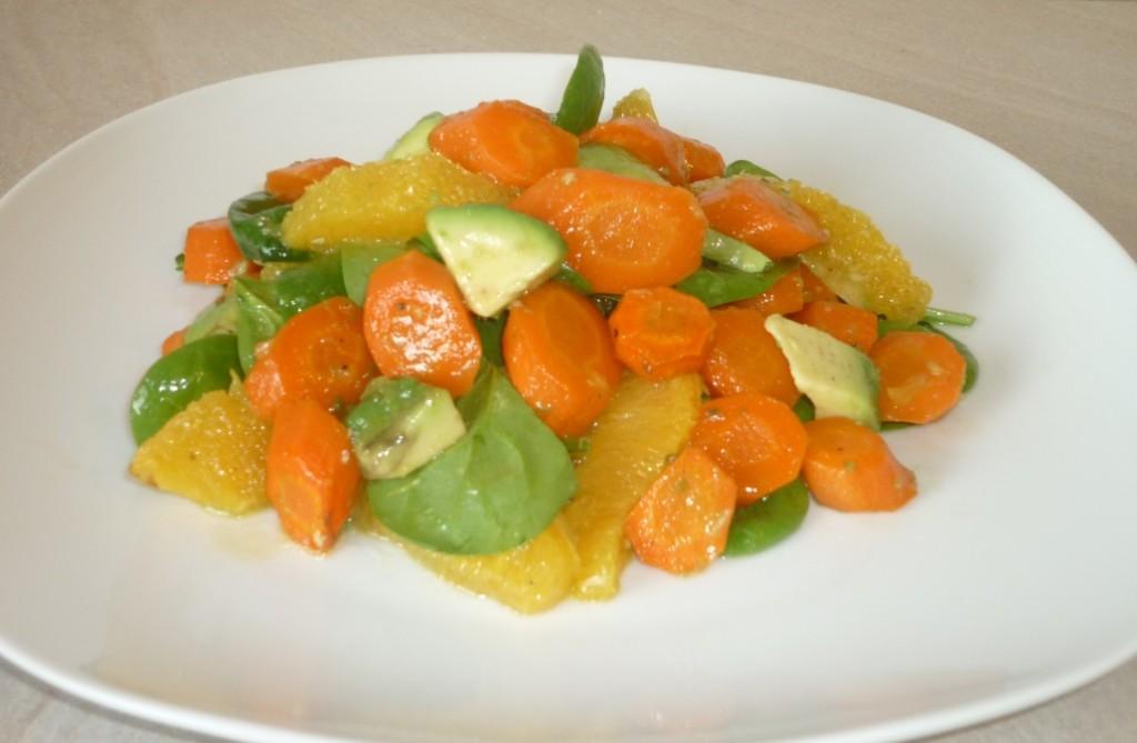 mit power ins neue jahr salat aus ger steten m hren mit orange und avocado essen ohne grenzen. Black Bedroom Furniture Sets. Home Design Ideas